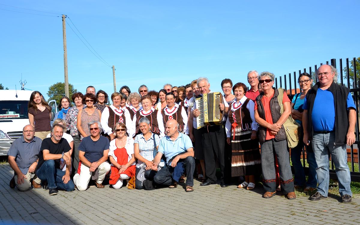 Le groupe Petite Danserie en Pologne